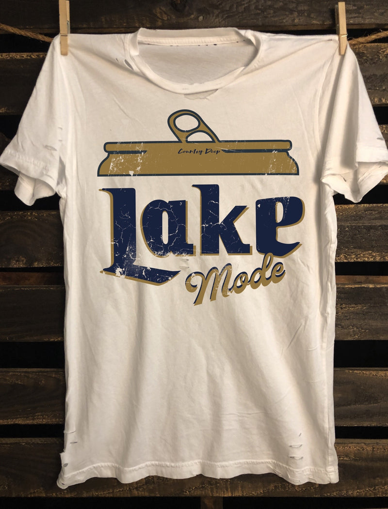 Lake Mode distressed  vintage T shirt