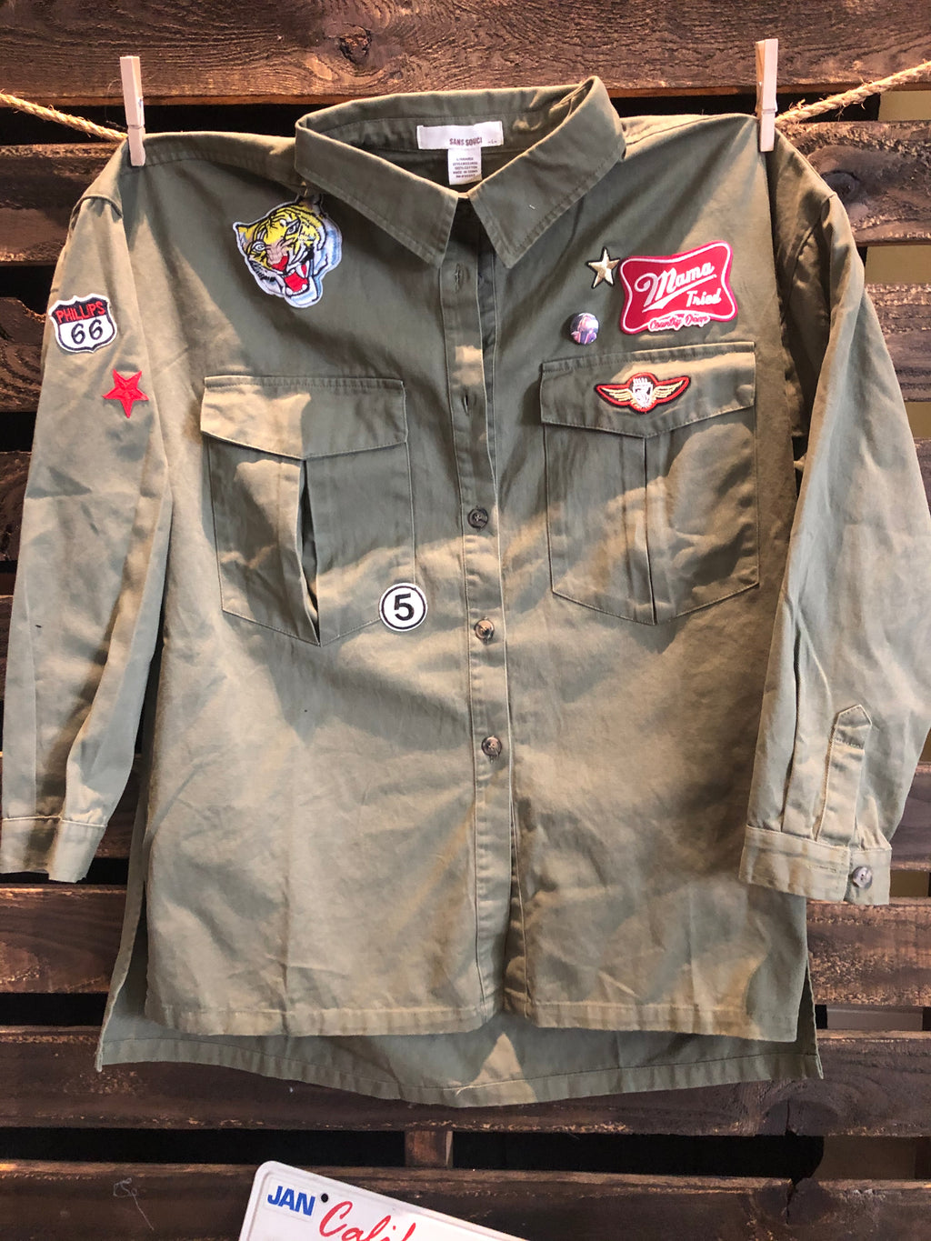 Love Bites Oversized Military Jacket