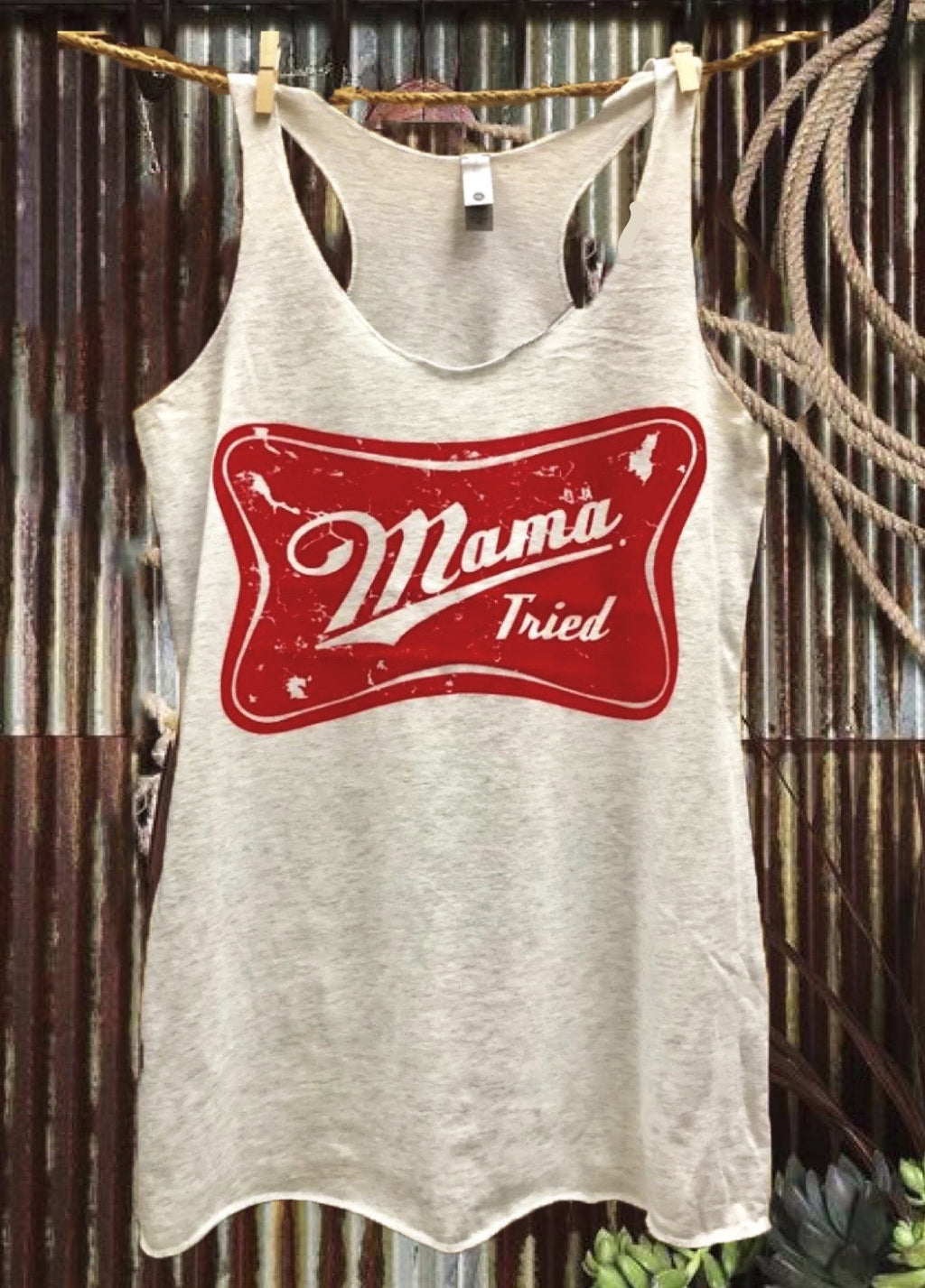 Mama Tried racer back tank top