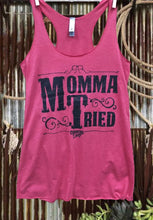 Load image into Gallery viewer, Mamma Tired Racer Back Tank Top