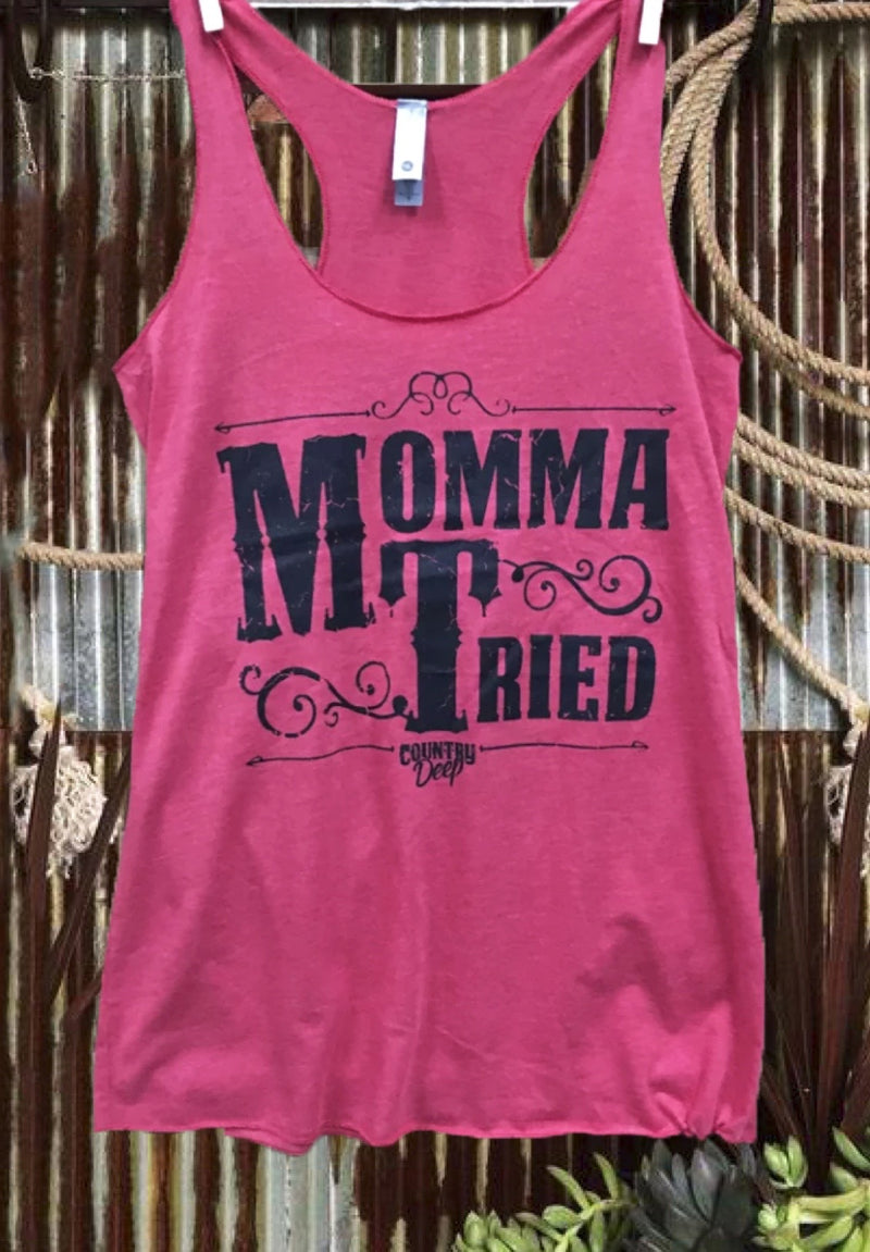 Mamma Tired Racer Back Tank Top