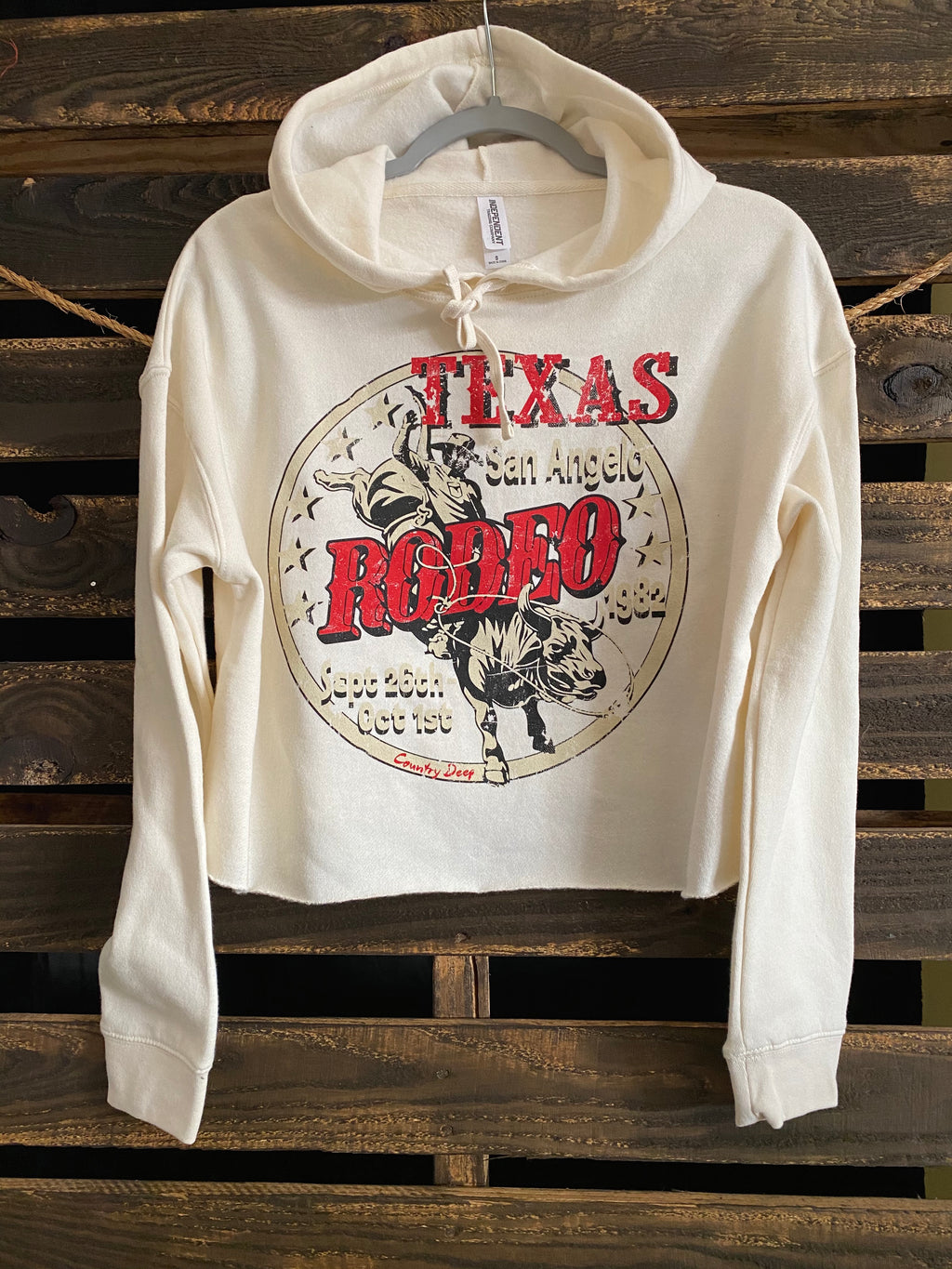 San Angelo Texas Rodeo Vintage 1980's Cropped Hoody