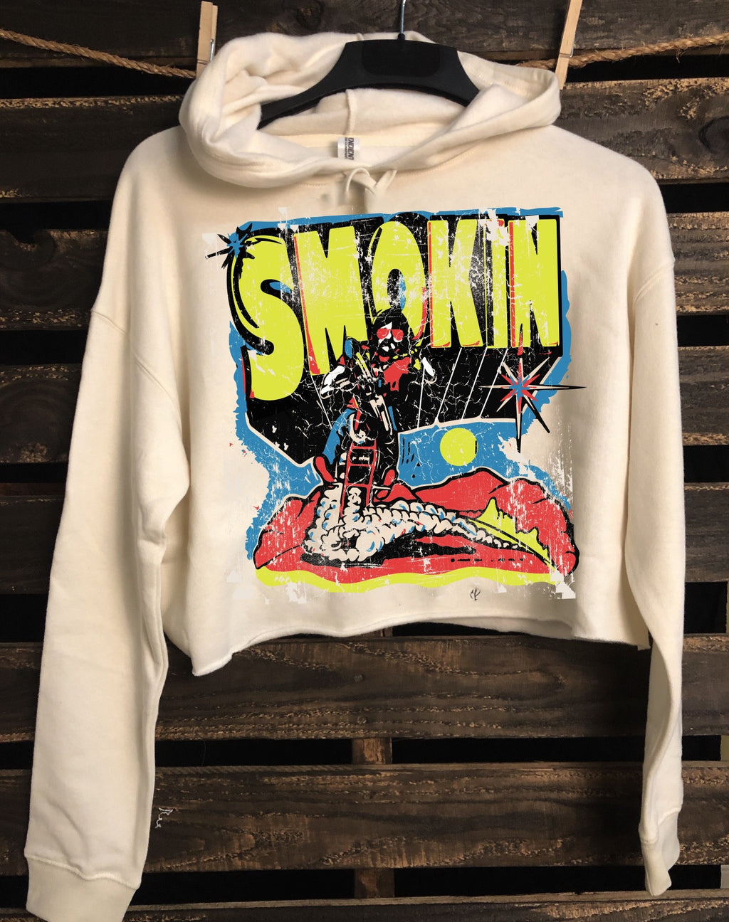 Smokin 1970's Cropped Hooded sweatshirt
