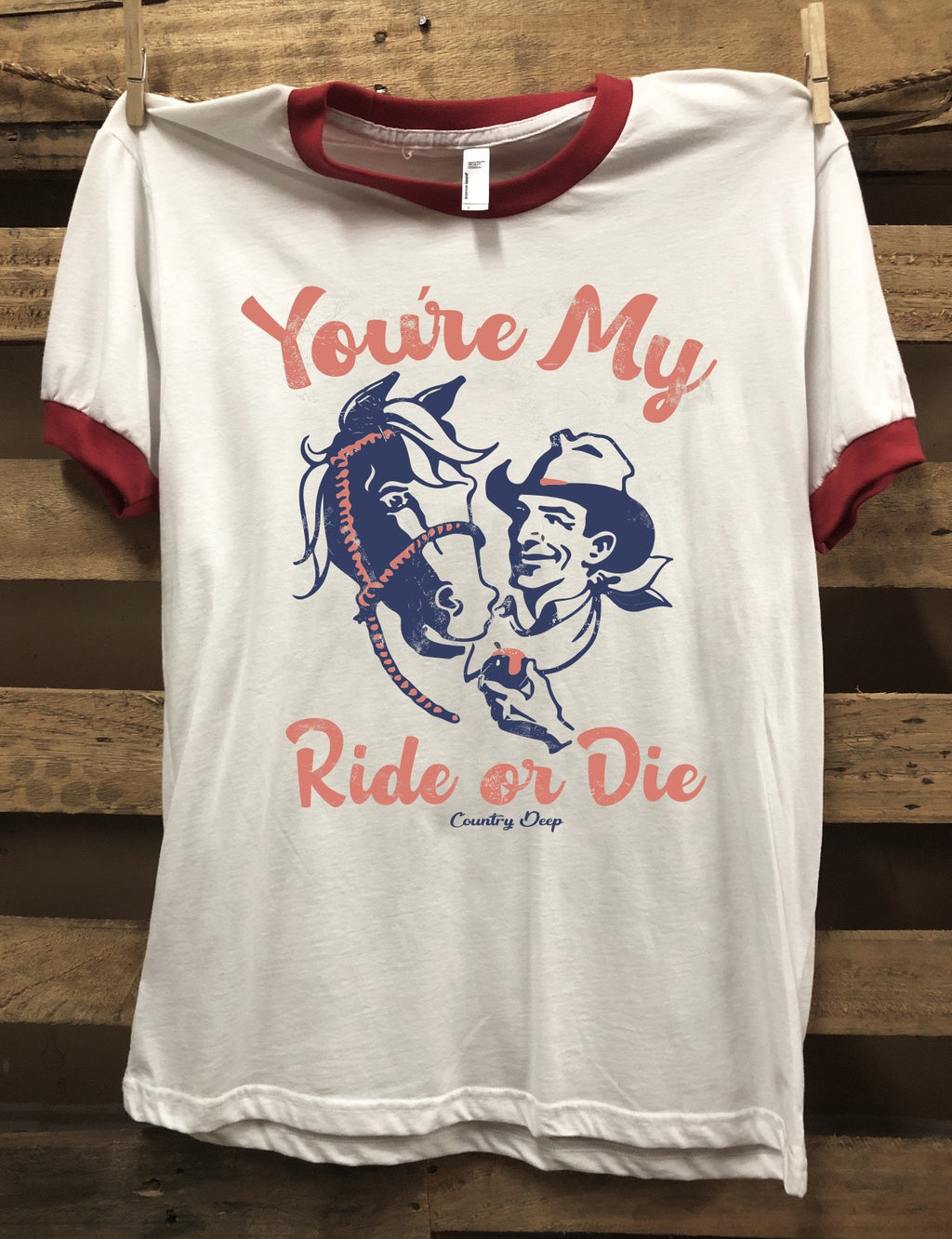 You're My Ride Or Die Ringer Vintage T-Shirt