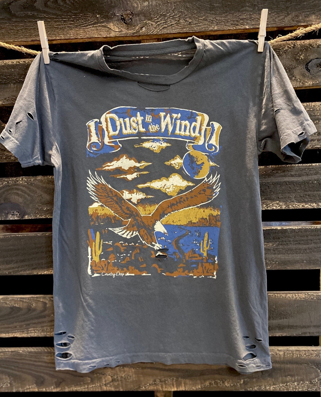 Dust in the Wind Distressed vintage 80's festival T shirt
