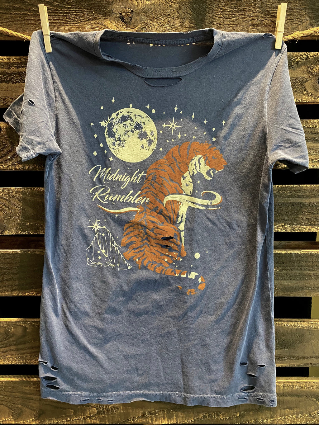 Midnight Rambler 1980's Distressed T shirt