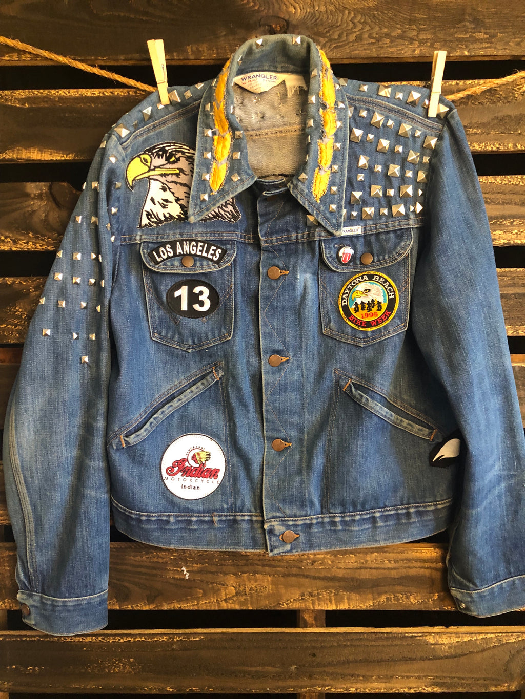Eagles Motorcycle denim Wrangler jacket