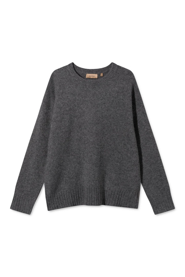 KARIA DARK GREY MELANGE SWEATER
