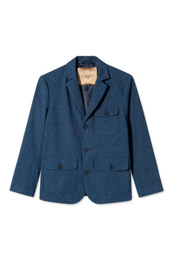 CHARLES BRUSHED DENIM WORKER BLAZER