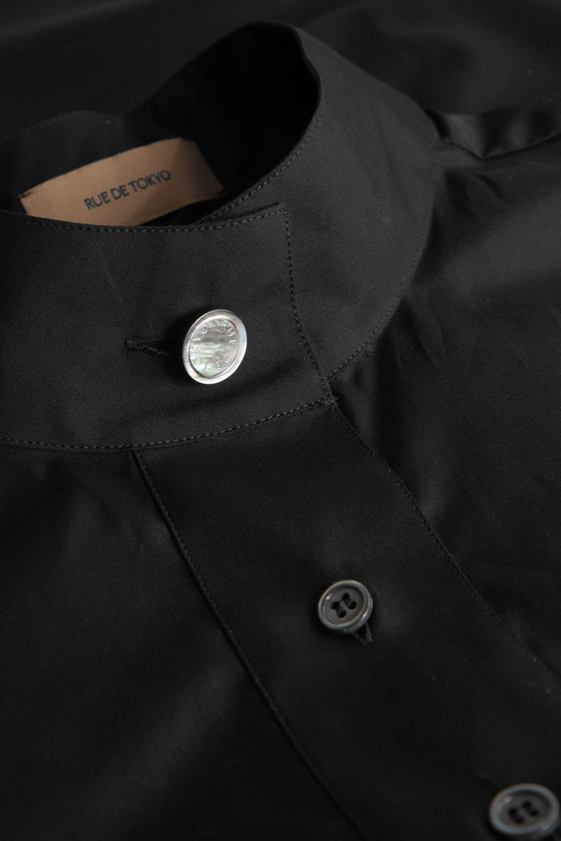 SERA BLACK HIGH COLLAR SHIRT