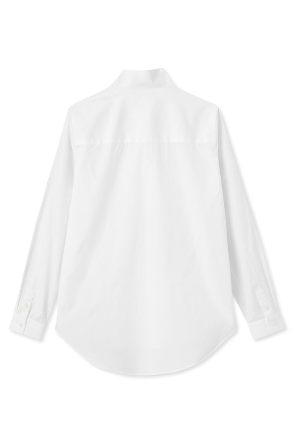 Sera White High Collar Shirt