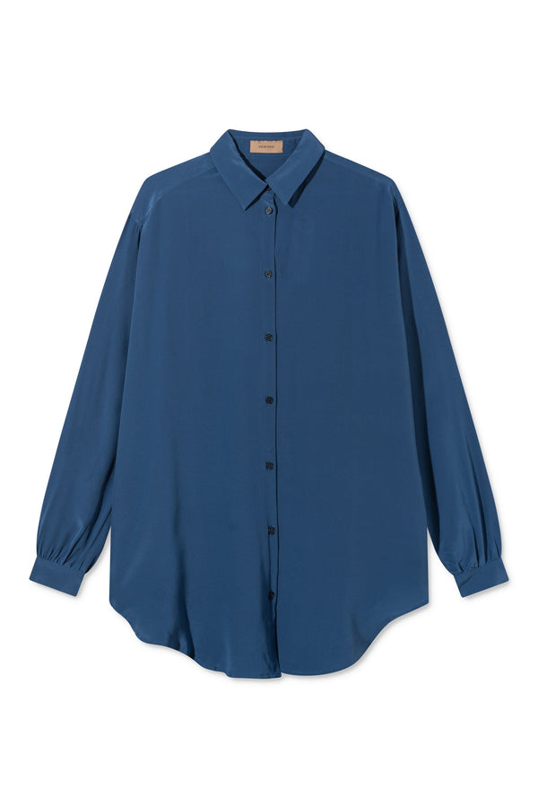 SHELLEY BLUE SILK SHIRT