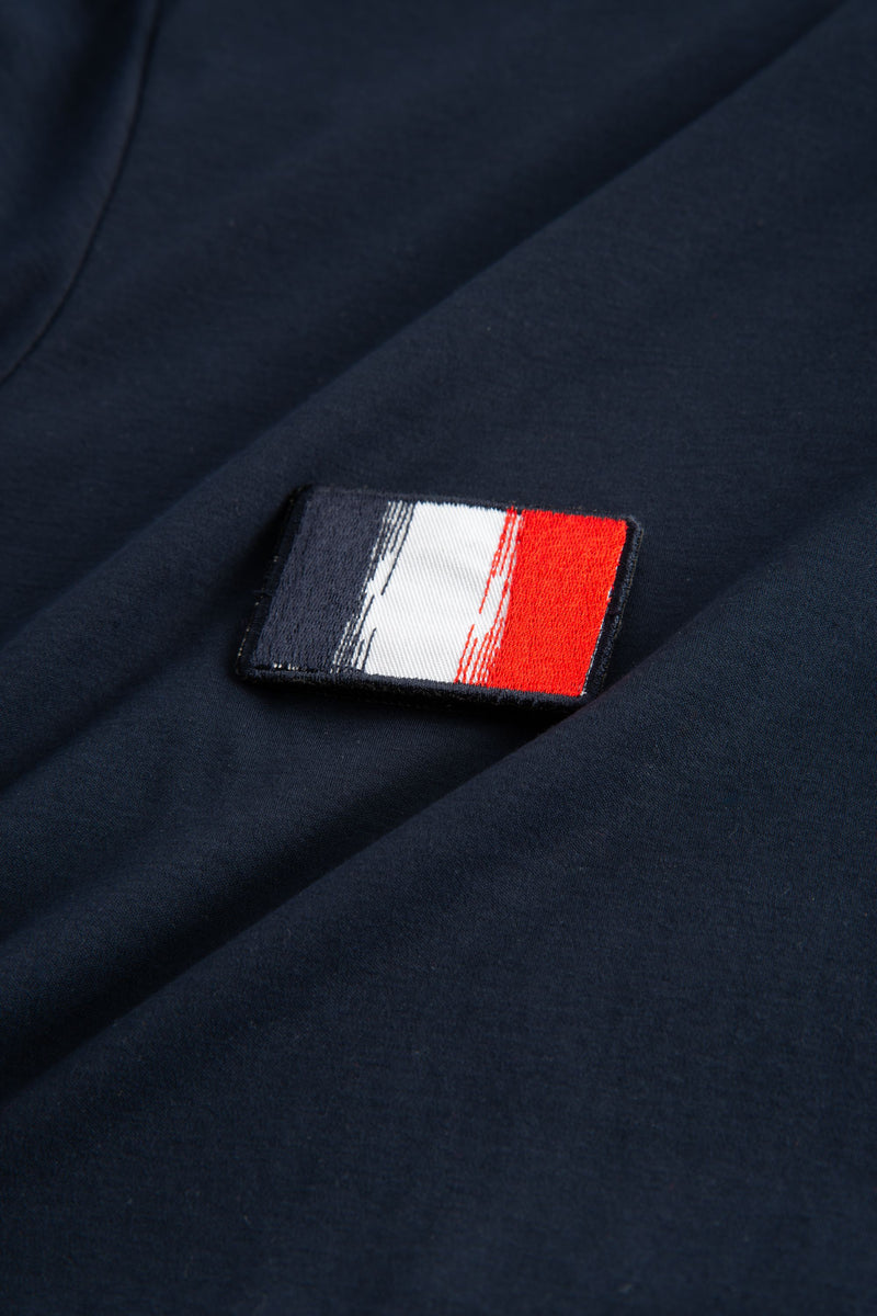 TAIMA NAVY FLAG PATCH T-SHIRT