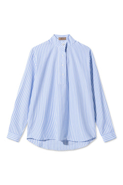SERA LIGHT BLUE STRIPE SHIRT
