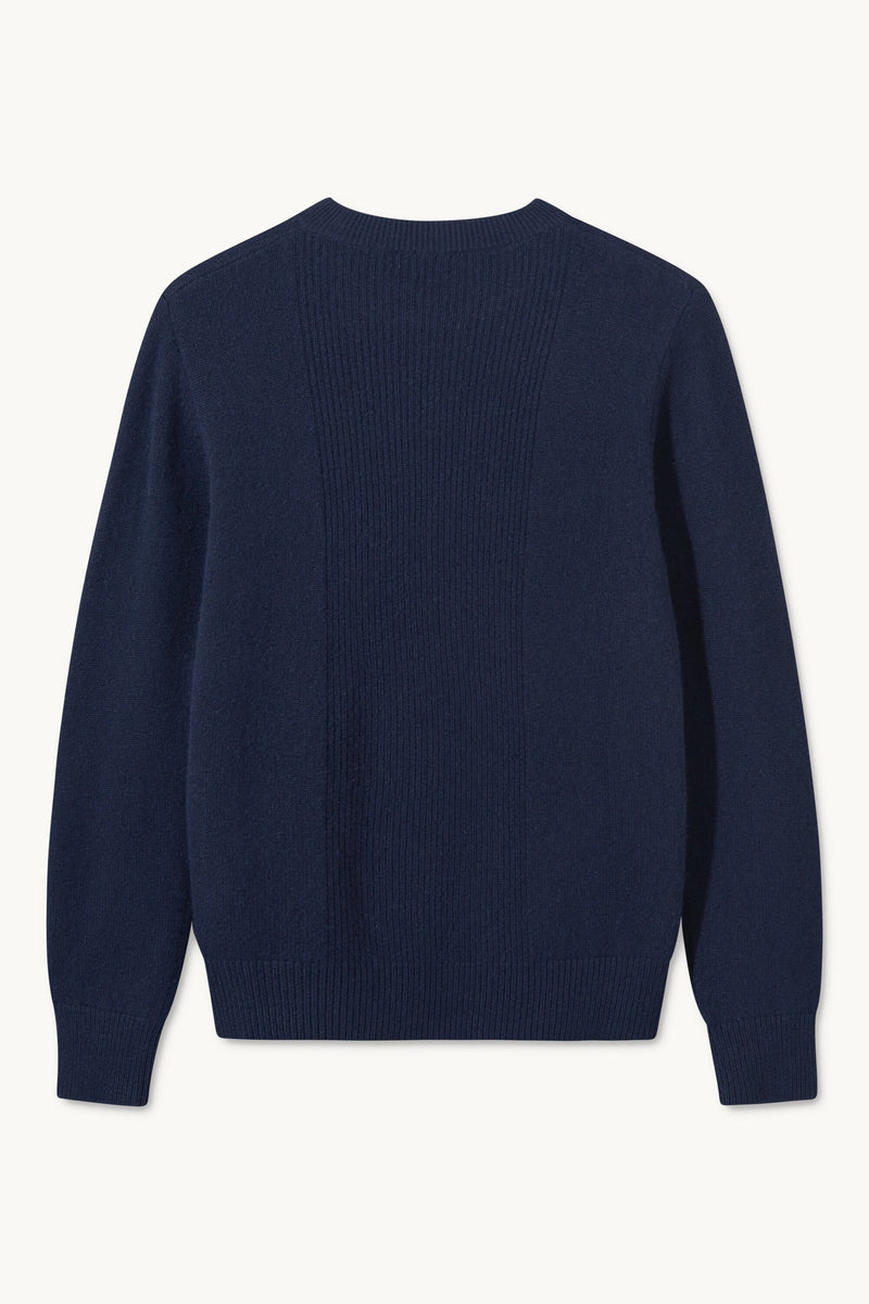 KASON CASHMERE NAVY SWEATER