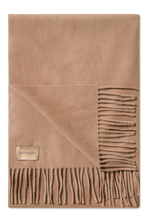 ASHTON CAMEL VIRGIN WOOL SCARF