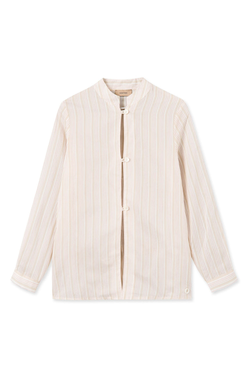 SEDA STRIPED SILK BLEND SHIRT