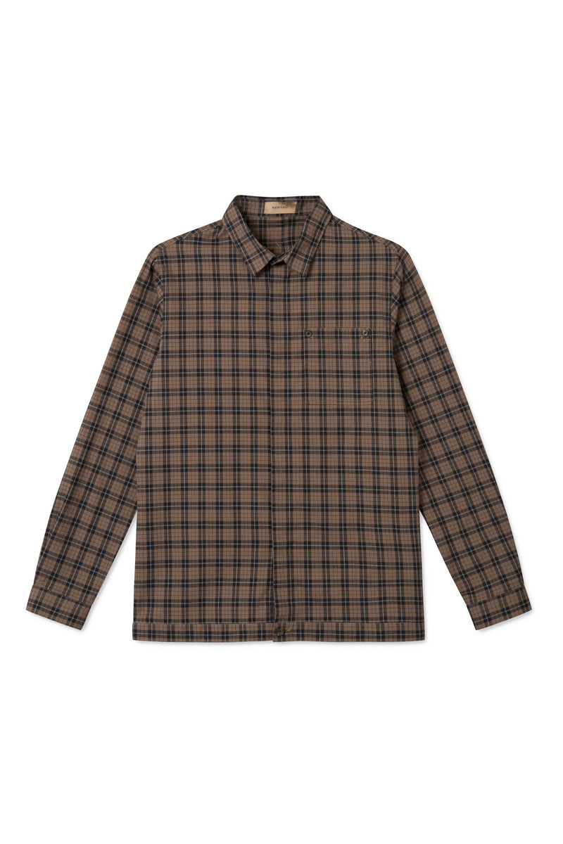 SIRIUS BROWN BLACK CHECK OVERSHIRT
