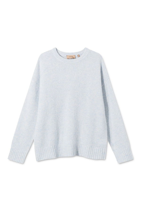 KARIA LIGHT BLUE MELANGE SWEATER