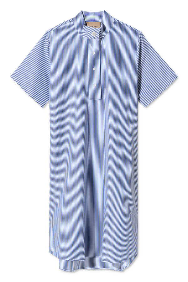 DAIMY BLUE WHITE STRIPED DRESS