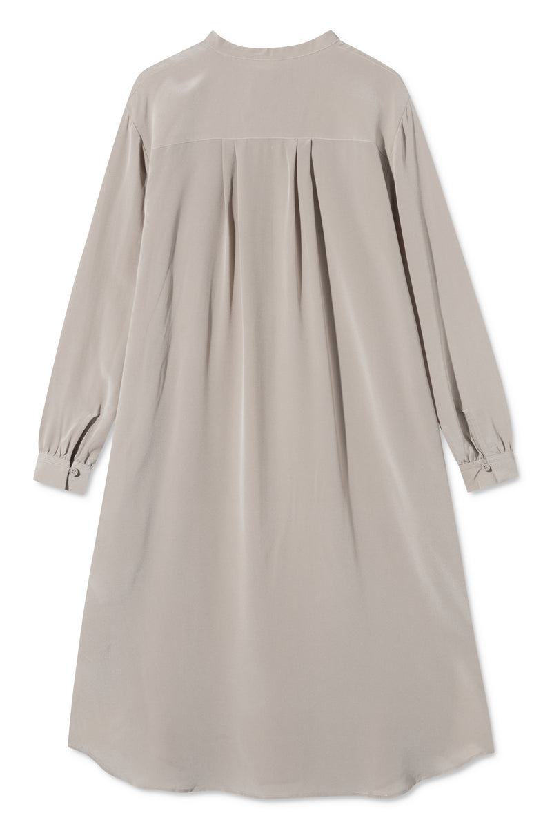DORA TAUPE SILK DRESS