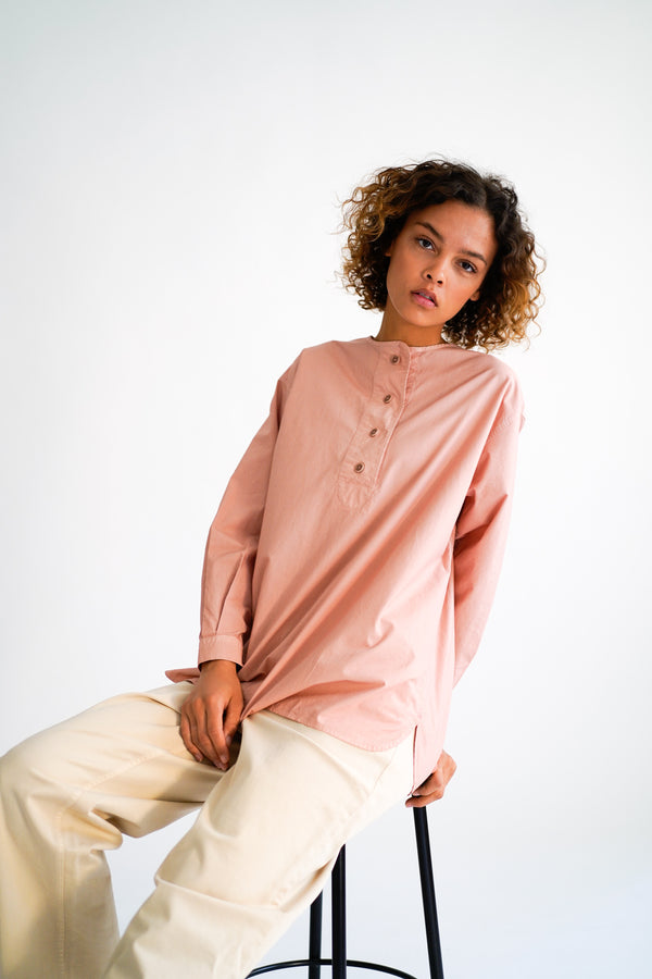 SHAI TERRACOTTA GARMENT DYED SHIRT