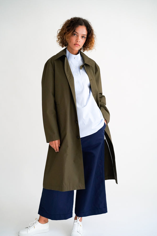 CHESTER KHAKI GREEN COAT