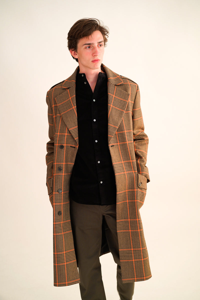 CODY CHECK COAT