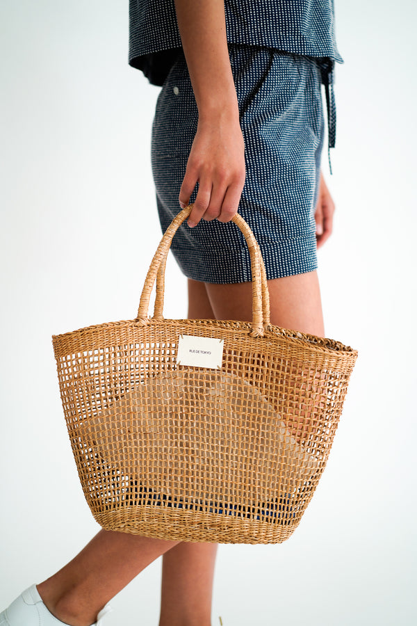 ANNIE STRAW BEACH BAG