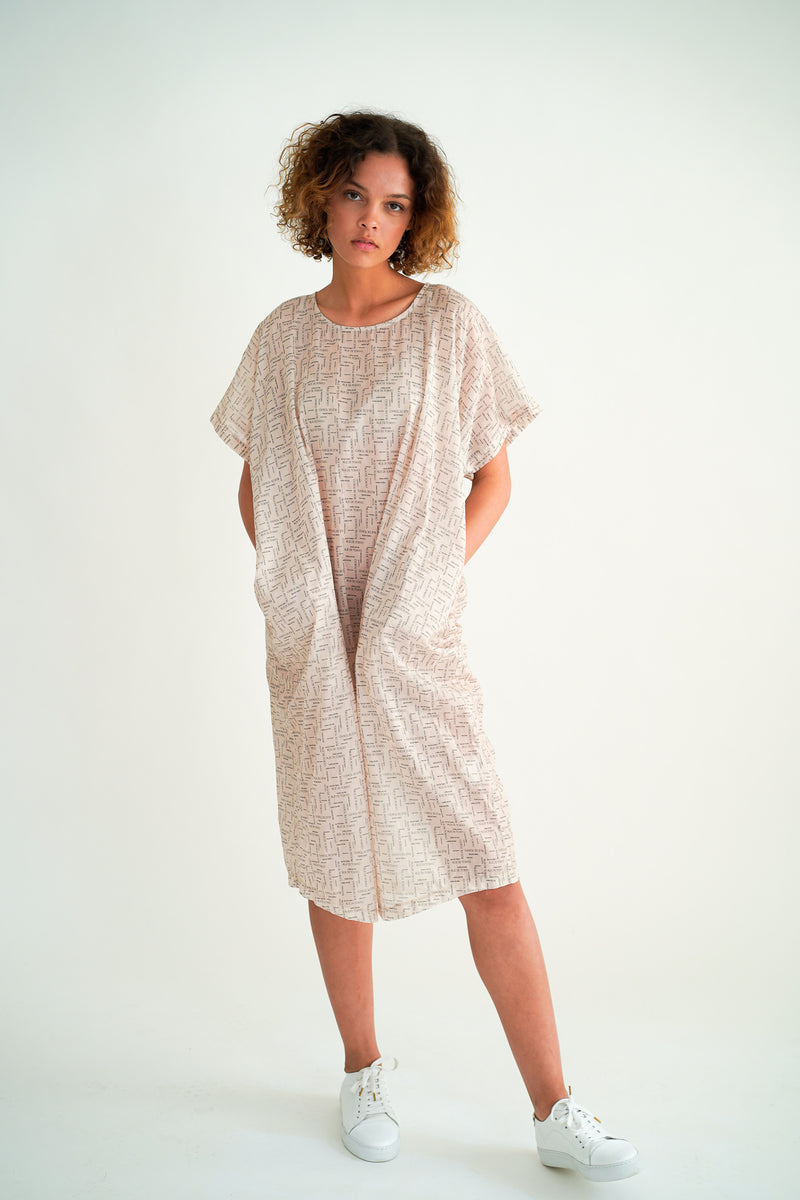 DEBRA LOGO PRINT OVERSIZED DRESS