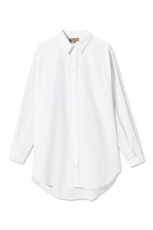 SHANA WHITE OVERSIZED SHIRT
