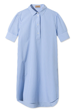 DEMI LIGHT BLUE WHITE STRIPE DRESS