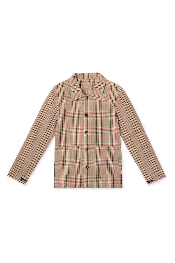 JONIL CHECKED WORKER JACKET