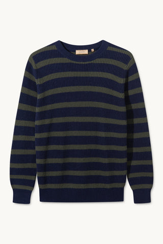 KALI GREEN NAVY STRIPED SWEATER
