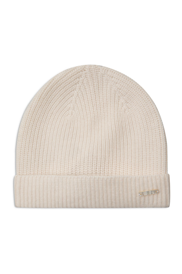 KELTON WARM WHITE WOOL BEANIE