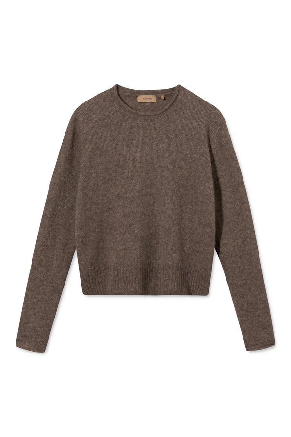 KENLEY HAZELNUT CREWNECK SWEATER