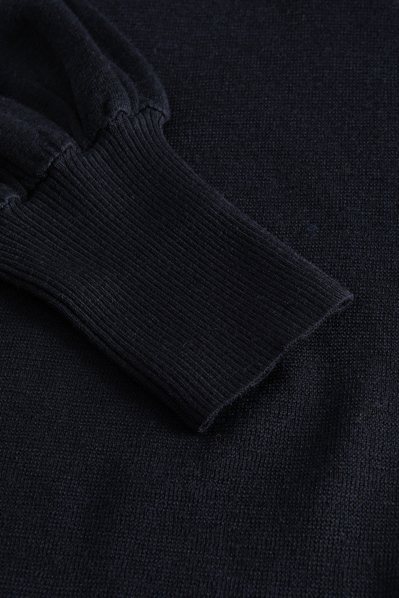 KHLOE NAVY KNIT SWEATER