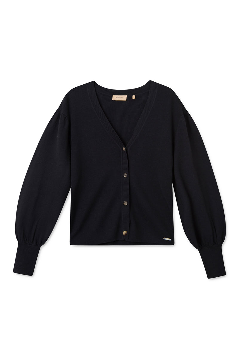 KIRA NAVY CARDIGAN KNIT