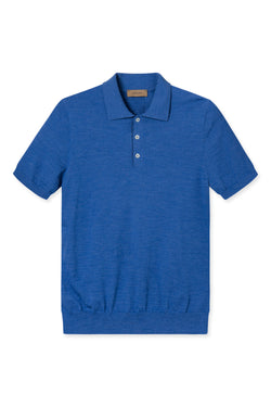 KOMME LIGHT BLUE SHORT SLEEVE POLO KNIT