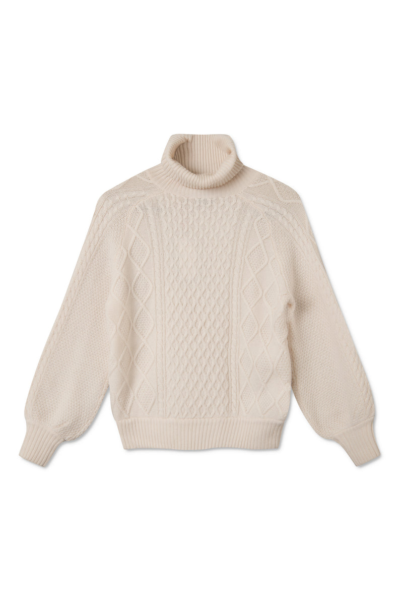 KORAL WARM WHITE SWEATER