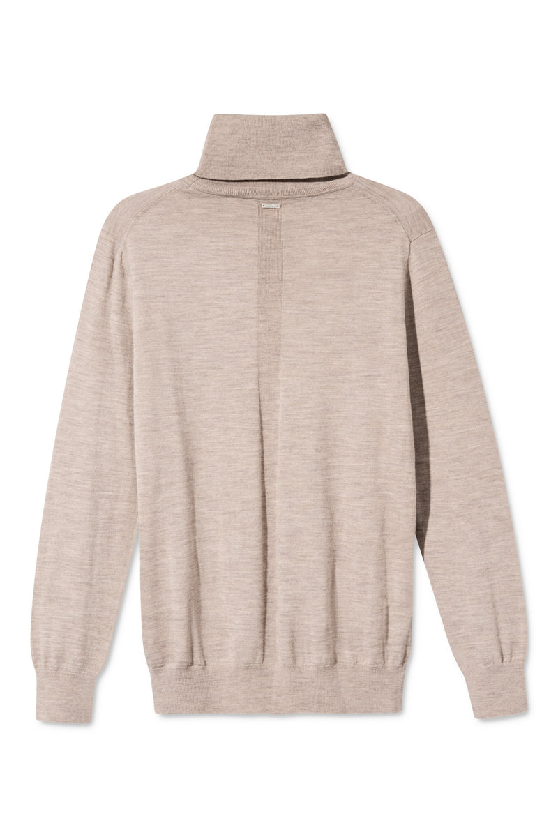 KOTTA SAND MELANGE TURTLENECK KNIT