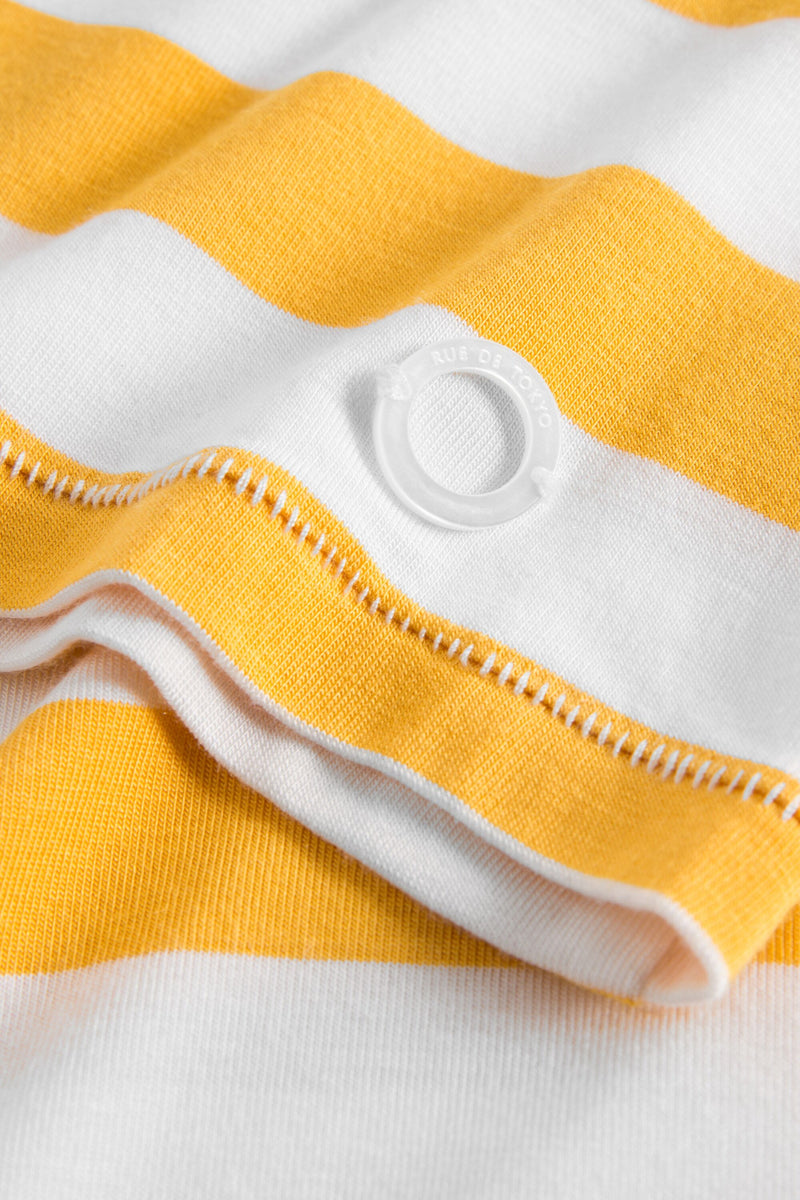 TRINIA YELLOW/WHITE FITTED T-SHIRT