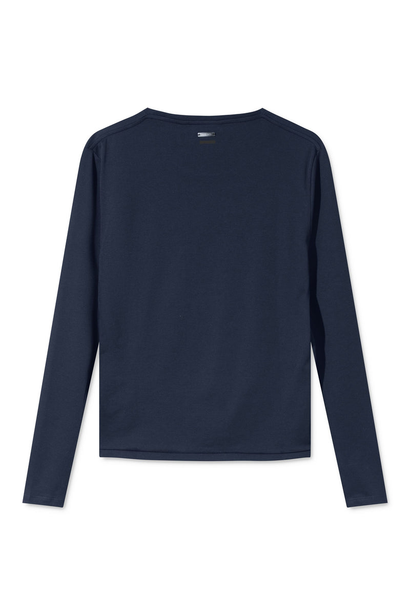 TORI NAVY ORGANIC COTTON LONG SLEEVE T-SHIRT