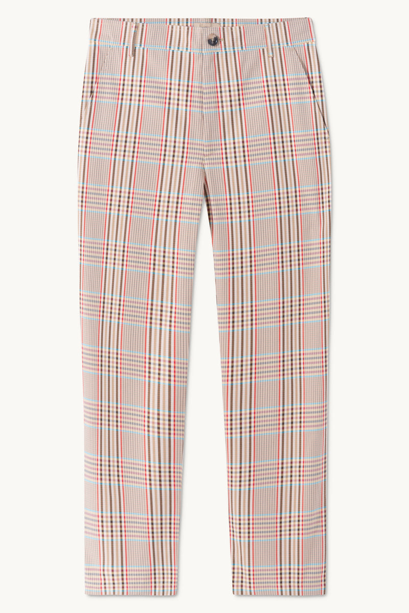 PAPOVER CHECKED PANTS