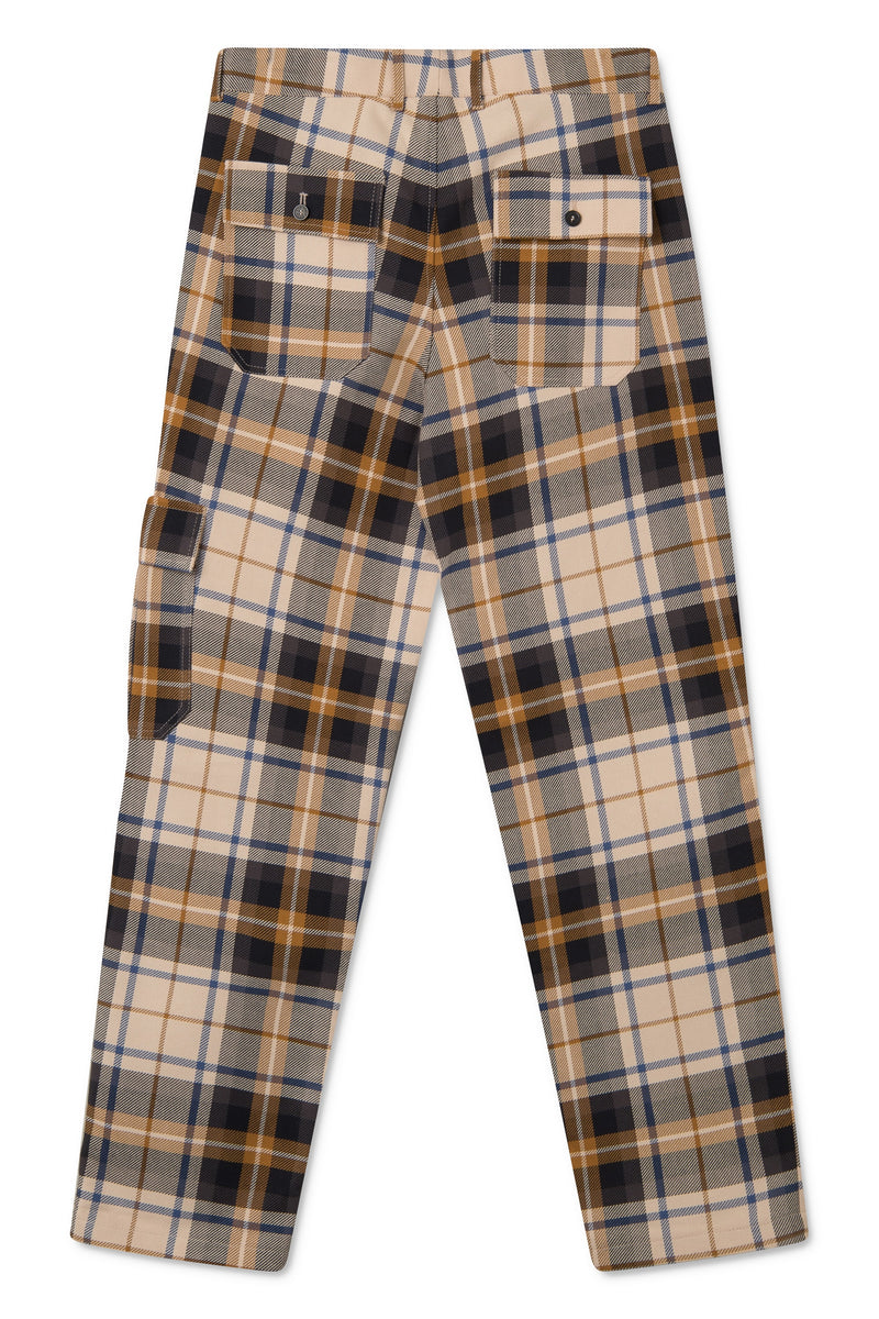 PAW BLUE BROWN CHECKED PANTS
