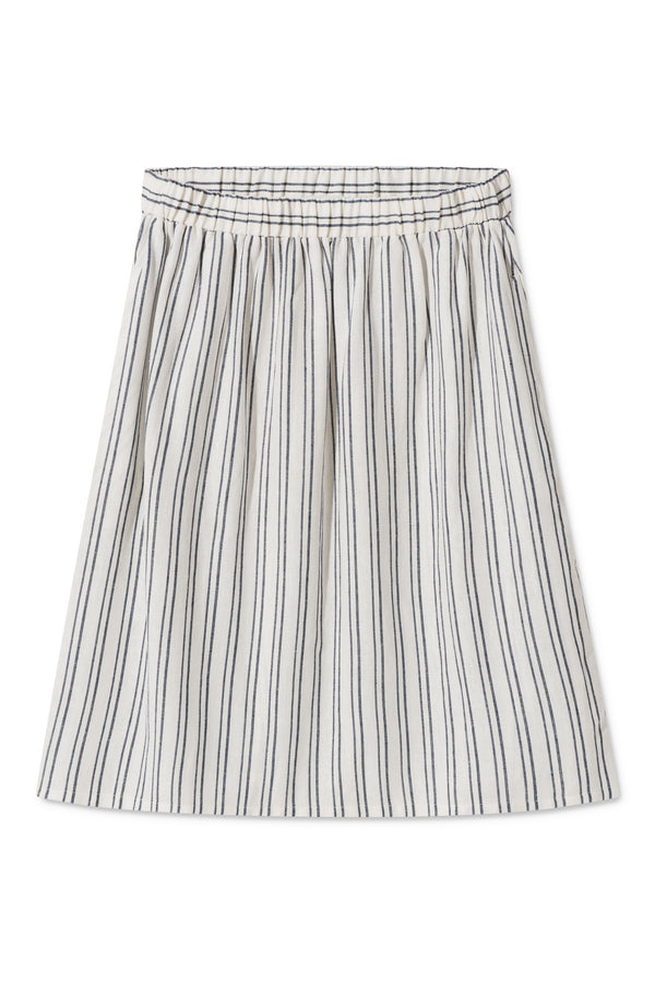 POPPY WHITE BLUE STRIPED SKIRT