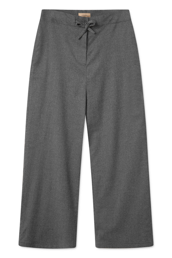 PRIYA GREY MELANGE DRAWSTRING PANTS