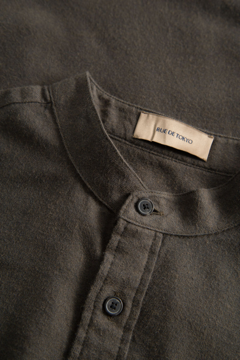 SAMUEL BROWN MAO COLLAR SHIRT