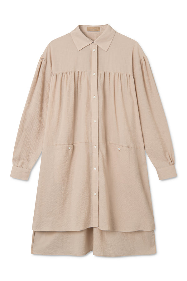 SAGE BEIGE LONG SHIRT
