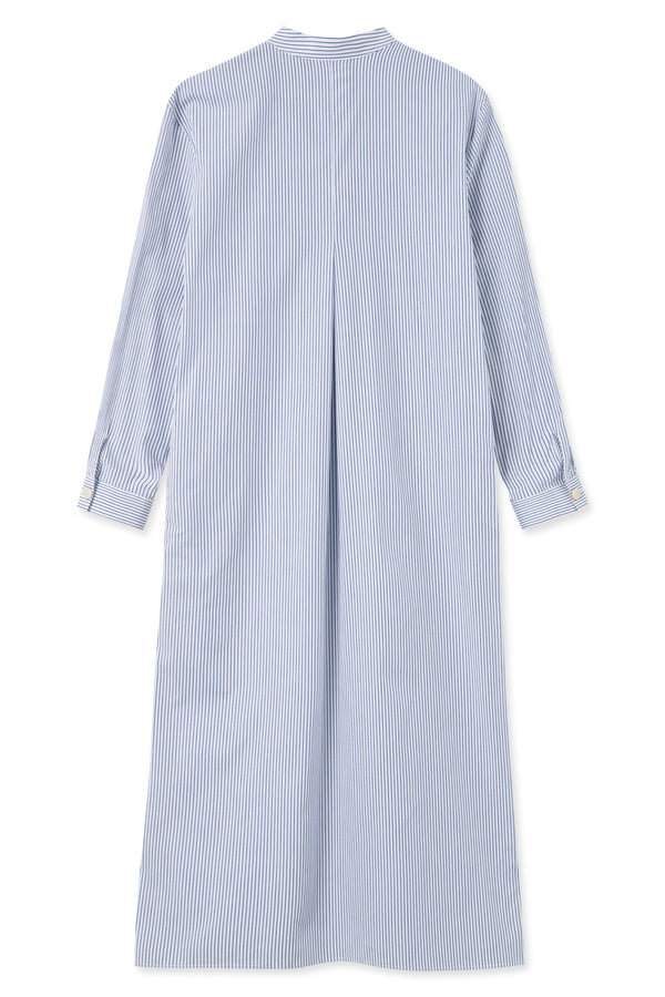 SALISA BLUE WHITE STRIPE DRESS